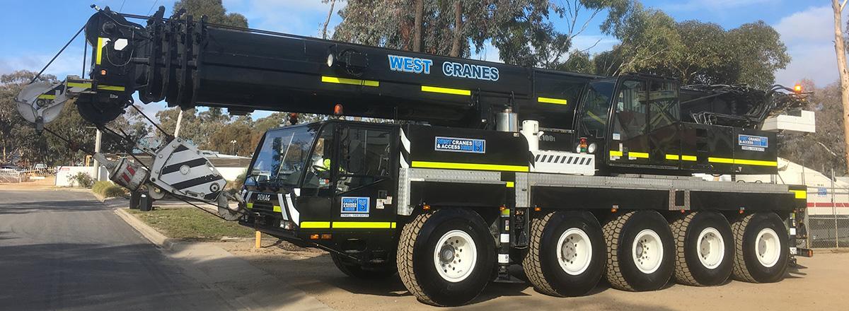 Demag AC100 Crane Hire Western Victoria | Wet | Dry