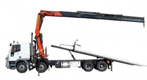 Crane Truck with 20 Ton Metre Palfinger 7m Tilt Slide Tray Container